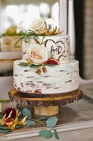 Rustic Winter Wedding Cakes