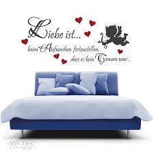 wandaufkleber liebe ist wandtattoo engel schlafzimmer