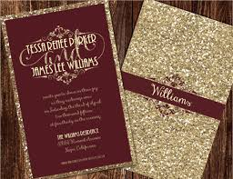 Shaadi Invitations Champagne And Burgundy Wedding Maroon