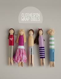 DIY Clothespins Wrap Dolls Via Thisheartofmineblog