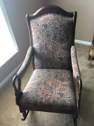 Best Vintage Gooseneck Rocker For Sale In Huntersville, North ... Gooseneck Chair Platform Rocking Antique Monteverest Chesterfield Ay96 Jnalagora Lincoln Rocker Chair On Bonanzacom Owls Buffalo Check Chairish Mahogany Arm Pristine Collectors Weekly I Have A Rocking That Has Devils Face At The Top Has Hound Childs Upholstered Whosale 19th Century Chairs 95 For Sale 1stdibs What Is Value Of Gooseneck Rocker Mostly Upholstery Beauty Within Clinic Swan Ideas