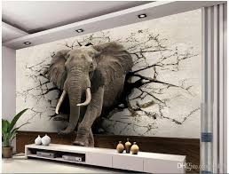 custom 3d elephant wall mural personalized photo