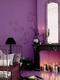 arabische möbel lila gestaltung der wand wandtattoo blumen