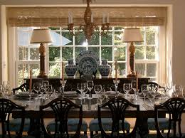 San Francisco Antique Buffet With Mini Chandeliers Dining Room Victorian And Blue White China Chintz