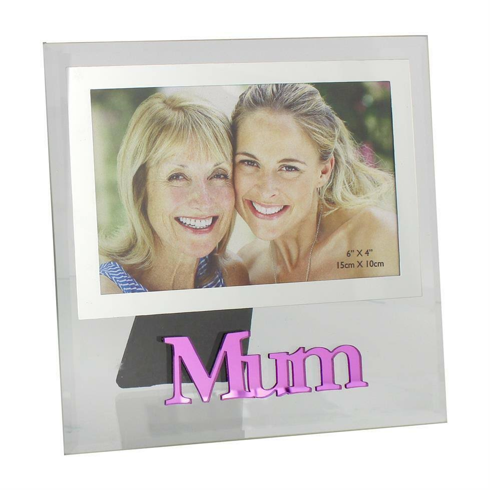 WIDDOP 6x4 Inch Mum Glass Photo Frame