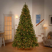 National Tree Company 9 Pre Lit Artificial North Valley Spruce Christ