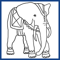Elephant Coloring Pages Funny Or Realistic Drawings Of Elephants For