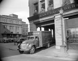 Nabob Delivery Truck Leaving A Building At Cordova And Water Street ...