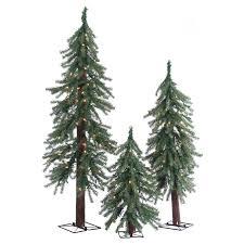 Downswept Pencil Christmas Tree by Stylish Set Of 3 Alpine Christmas Trees Agreeable Amazon Com