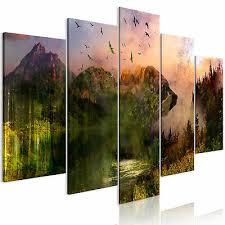 leinwand bilder landschaft berge wald grün wandbilder
