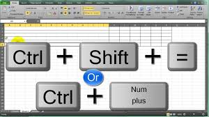 Insert Row Shortcut In Excel YouTube