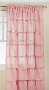 Pink Ruffle Curtains Target by Amazon Com Lorraine Home Fashions Gypsy Shabby Chic Layered