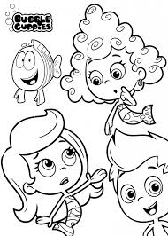 Printable Coloring Sheets On Bubble Guppies 20369 With Free Pages