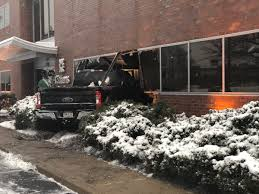100 Truck With Snow Plow Crashes Into Building In Elkins Park CBS Philly