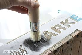 How to stencil featuring a pallet wood crateFunky Junk Interiors