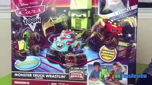 Disney Cars Toon Monster Truck Wrastlin Lightning McQueen Tow ... Monster Jam Stunt Track Challenge Ramp Truck Storage Disney Pixar Cars Toon Mater Deluxe 5 Pc Figurine Mattel Cars Toons Monster Truck Mater 3pack Box Front To Flickr Welcome On Buy N Large New Wrestling Matches Starring Dr Feel Bad Xl Talking Lightning Mcqueen In Amazoncom Cars Toon 155 Die Cast Car Referee 2 Playset Kinetic Sand Race Blaze And The Machines Flip Speedway Prank Screaming Banshee Toy Speed Wheels Giant Trucks Mighty Back Toy