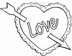 Love Hearts Colouring Pages Page 2