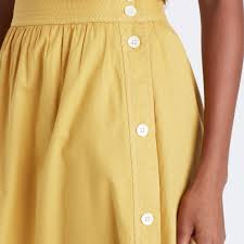 side button skirt midi u0026 maxi madewell
