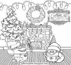 LETS COLORING BOOK Cool Merry Christmas Minions Coloring Pages For Minion