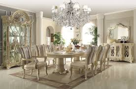 Homey Design Off White 12 Pc Traditional Dining Room Set Mahogany Chairs