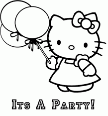 HELLO KITTY COLORING PAGES Party Favor