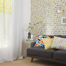 tapisserie bureau papier peint vinyle expansé sur intissé thalie jaune castorama