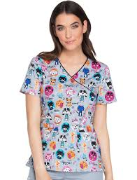 Ceil Blue Scrubs Cherokee from meow on scrub top