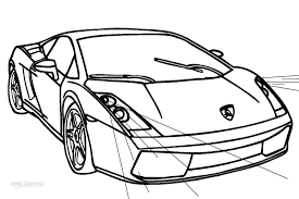 Awesome Lamborghini Coloring Page 63 In Free Book With