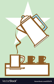 Pouring Coffee Pot 1 Vector Image