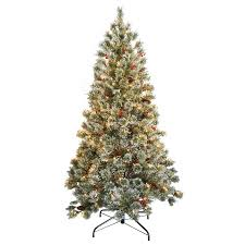 Crystal Cashmere 65 Green Pine Artificial Christmas Tree With 200 Clear Lights Stand