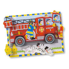 100 Melissa And Doug Fire Truck Puzzle Chunky 18pcs