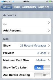 Set up IMAP email account on an iPhone