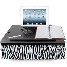 amazon com icozy portable cushion lap desk with storage zebra