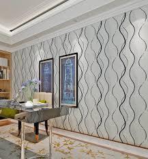 hanmero 3d mode vliestapete muster schwarz weiß welle verzieren wohnzimmer schlafzimmer tv hintergrund tapete 3 d qz0529