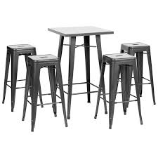Details About HARTLEYS GUNMETAL SQUARE INDUSTRIAL BISTRO BAR TABLE & 4  METAL TALL STOOLS SET White Cafe Interior With Tall Windows A Wooden Floor Square Gray Sofas Ding Room Tall Chairs New 75 Most Peerless Amazoncom Angeles Toddler Myvalue Square Table And Extending Retro Clearance And Extendable Counter Height Kitchen Table Fniture Bar Ding Cheap Bistro Find Deals On Oak Kids Chair Preschoolers Wooden Back Chairs Wood Design Ideas Outdoor High Top Tables Height With 4 Chair 52 Black Set