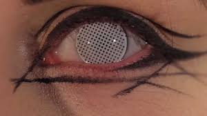 Theatrical Contacts Prescription by White Mesh Coloured Contact Lenses Youtube