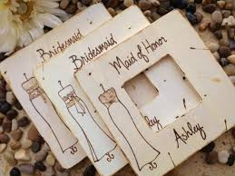 Set Of 11 Bridesmaid Favors Wedding Thank You Gifts For Your Girls Rustic Chic Frames With