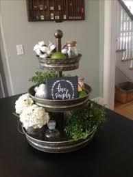 Great Idea To Add Any Decor You Can Change It For Each Season Tier TrayKitchen NookKitchen CabinetsKitchen