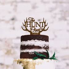 Wedding Rustic Cake Topper The Hunt Is Over