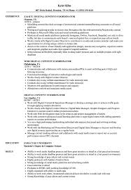 Download Digital Content Coordinator Resume Sample As Image File