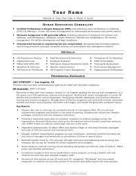 Entry Level Human Resources Resume Sample Collection ...
