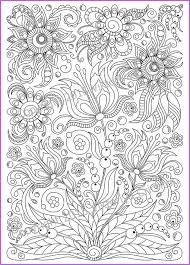 Coloring Page PDF Printable Doodle Flowers By ZentangleHouse Aurelia