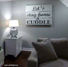Wood Sign Lets Stay Home Cuddle Painted Soulstyleca
