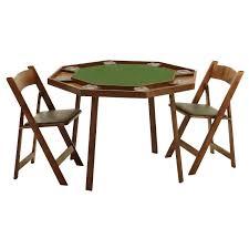 Kestell O-9W Oak Compact Folding Poker Table 48 ...