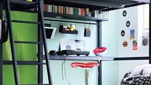 lit mezzanine noir avec bureau lit mezzanine but