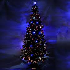 7ft Pre Lit Christmas Trees by 3ft Pre Lit Colour Fibre Optic Christmas Tree 20 Slow Flash Led