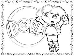 Dora Coloring Pages The Explorer Free