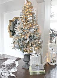 Christmas Tree Gold Tinsel 1