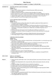 Download Certification Engineer Resume Sample As Image File