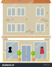 Urban Multi Storey House With Shop On First Floor Vector